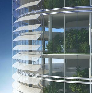 Solar Shading Device For High rise Buildings
